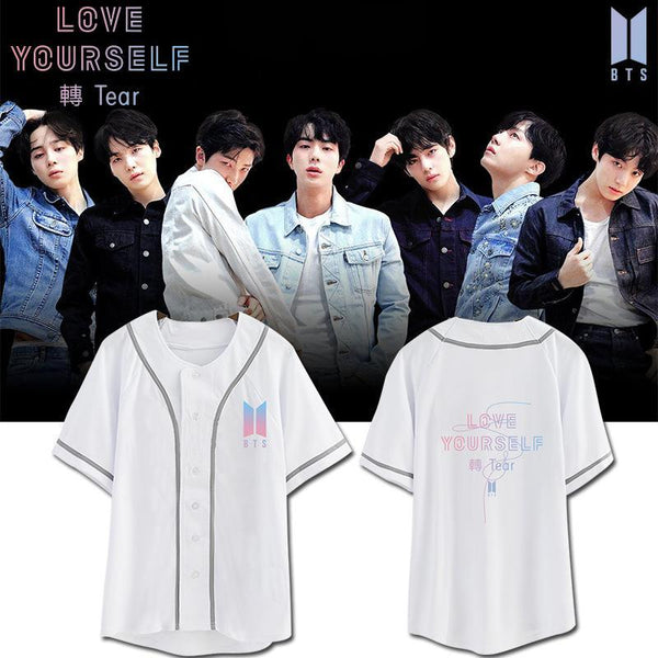 Black/White BTS Love Yourself Tear Jersey Top