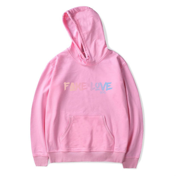 Black/White/Pink BTS Fake Love Hoodie K12741