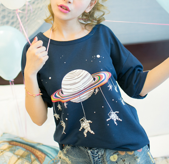 Cosmic Galaxy T-shirt KW1710310