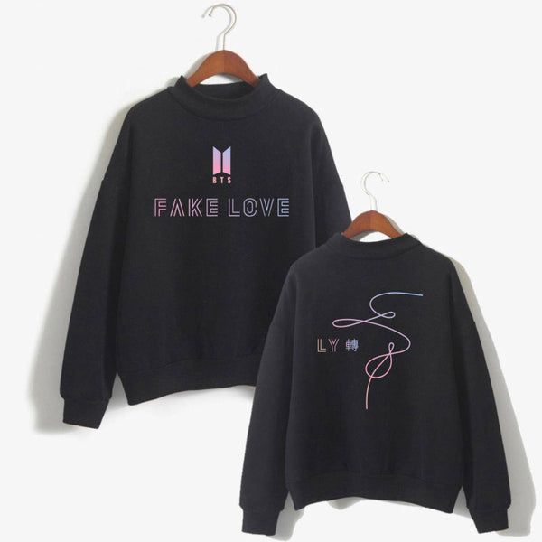 Black/White BTS Fake Love Pullover Jumper