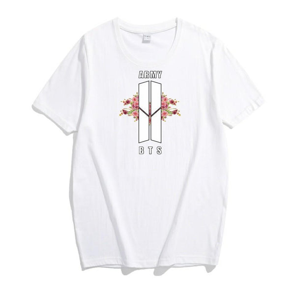 4 Colors BTS ARMY Floral Tee Shirt