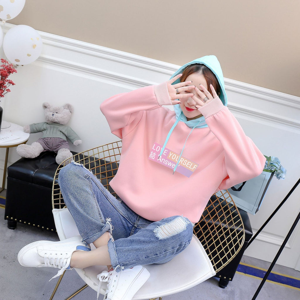 Pastel BTS Love Yourself: Answer Hoodie Jumper K13174