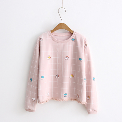 White/Pink/Blue Kawaii Sweatshirt KW179023