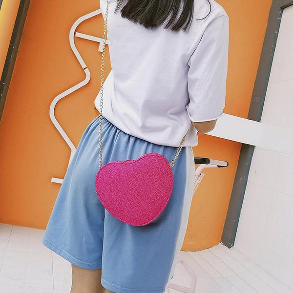 4 Colors Sweet Heart Cross Body Bag