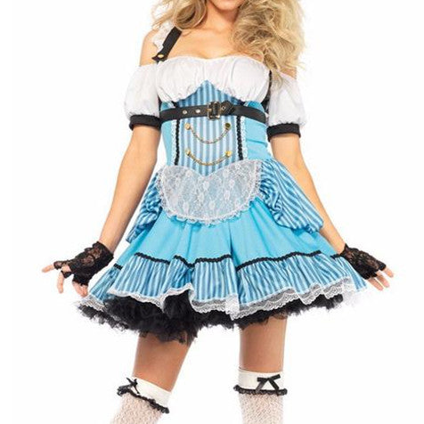 Alice in Wonderland Blue Maid  Cosplay Costumes