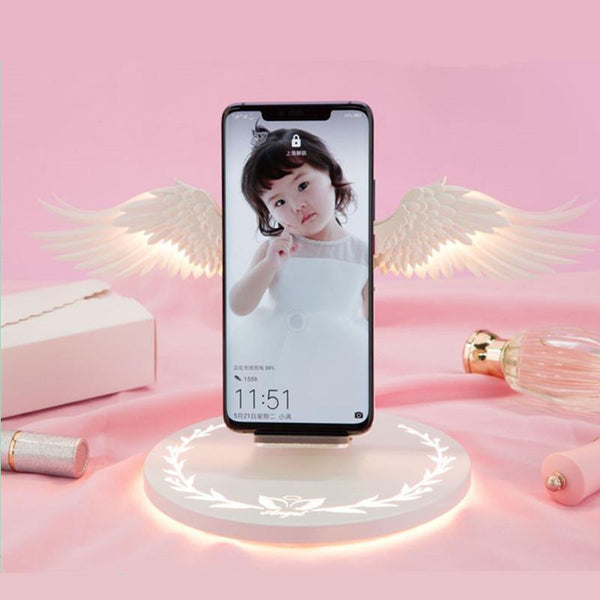 Presale Angel Wings Mobile Phone USB Wireless Charger K13982