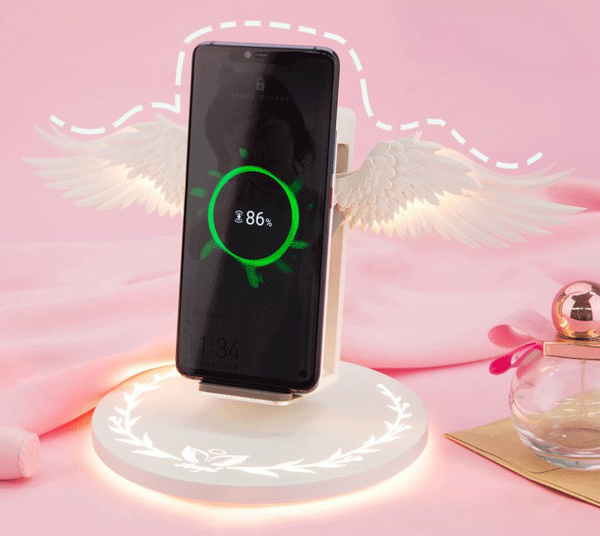 Angel Wings Mobile Phone USB Wireless Charger K13982