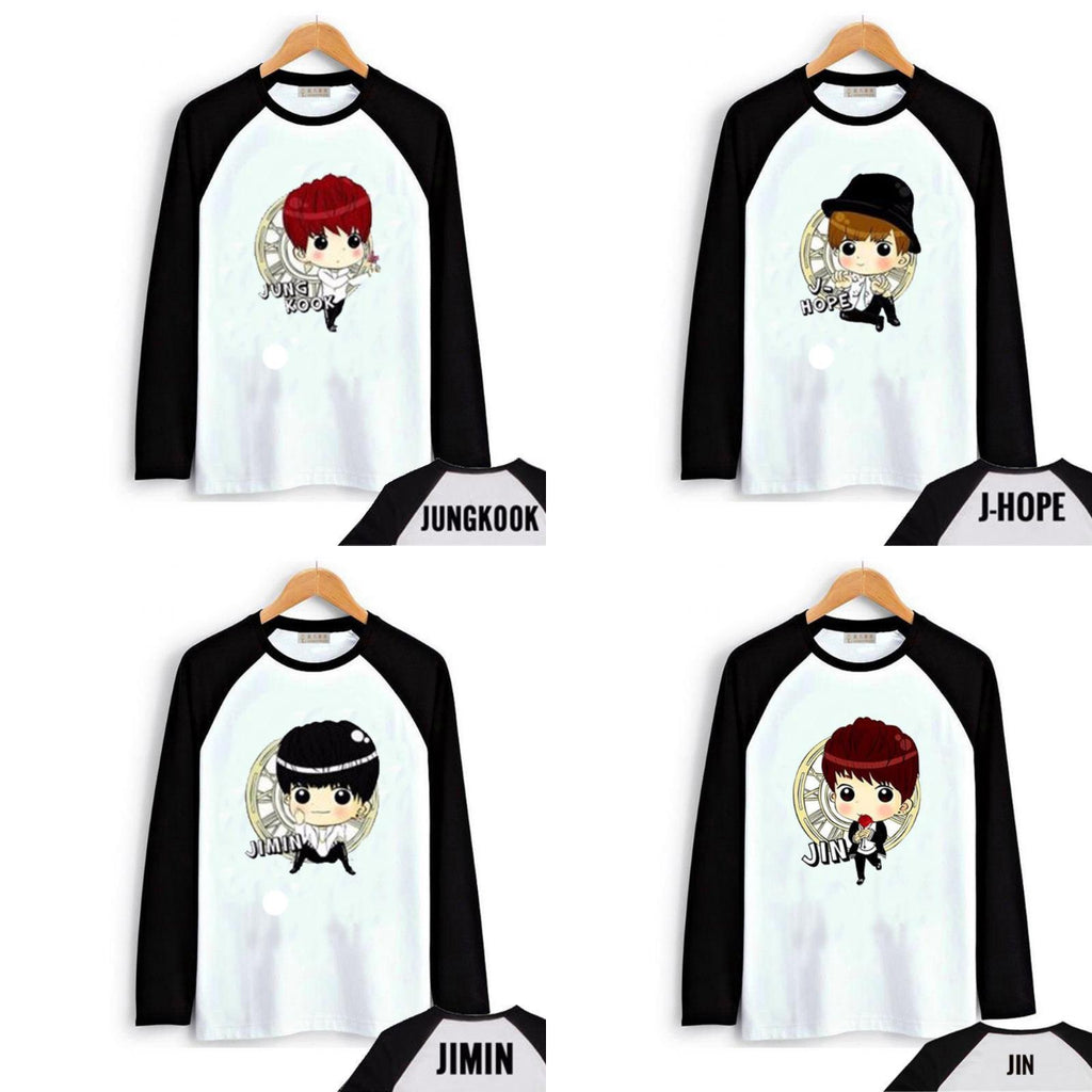 BTS Bias Cartoon Pullover Shirt