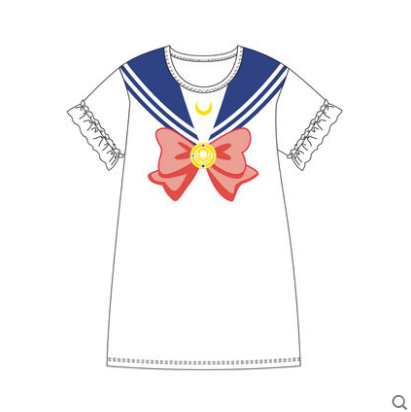 Cute Kawaii Cartoon Bowknot Sailor Moon Dress KW179756 - kawaiimoristore