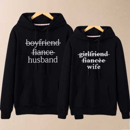 Black/Grey Couples Hoodie Jumper K13361