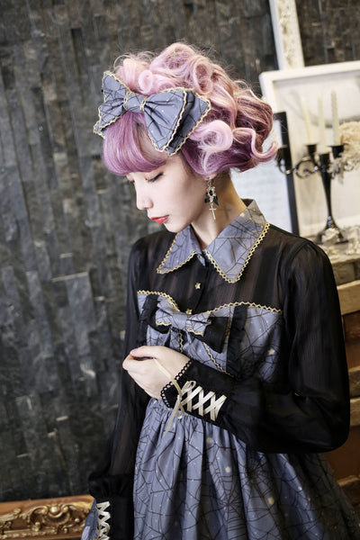 Black/Purple Hallowmas Magic Lolita Bowknot Hair Accessory