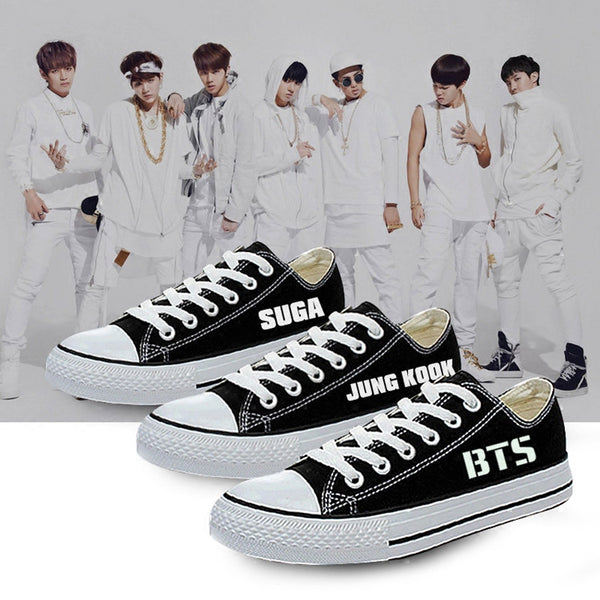 Black/White BTS Low Canvas Sneakers KW1812638