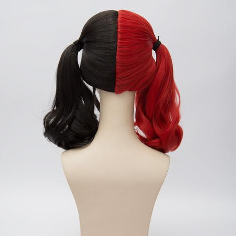 Black And Red Suicide Squad Harley Quinn Wig - kawaiimoristore