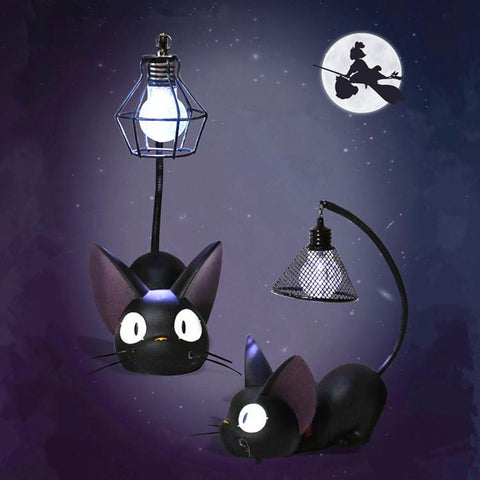 Black Groveling Cat Lamp K13759