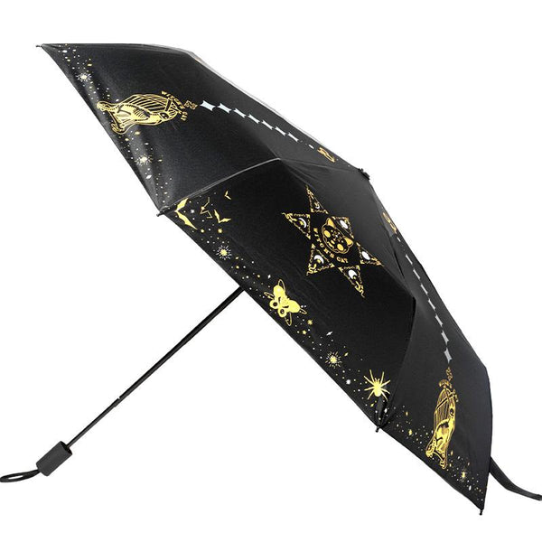 Black Kawaii Magic Girl Cat Umbrella K14357