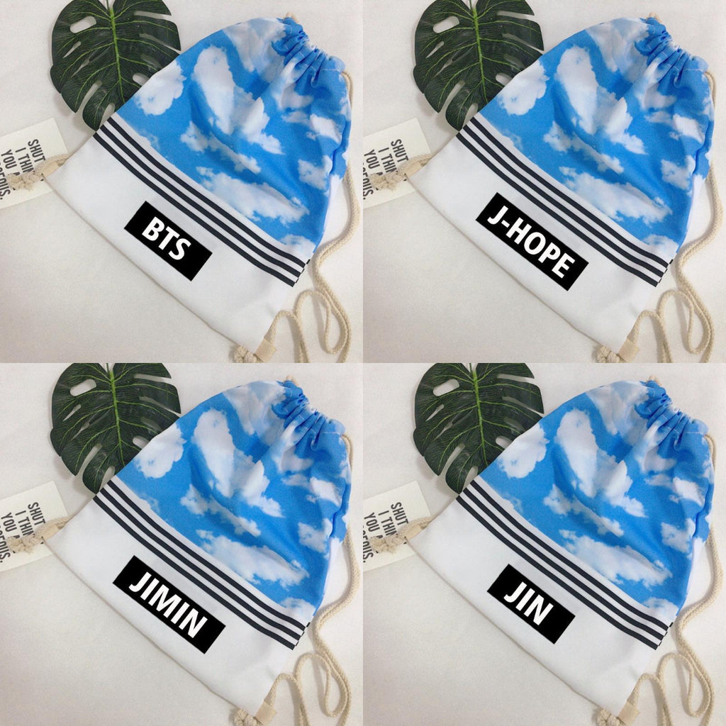 Blue BTS Bias Sky String Backpack