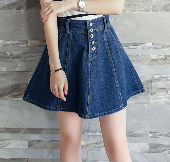 Blue Cowboy Braces Skirt  KW1710505