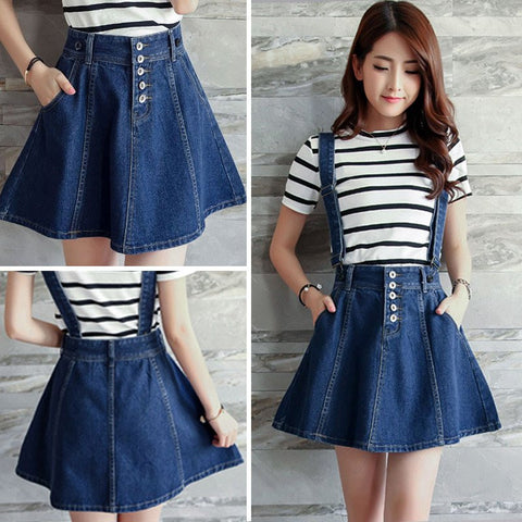 Blue Cowboy Braces Skirt