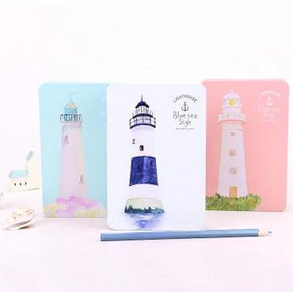 Blue Sea Lighthouse Special Design Dairy Notebook