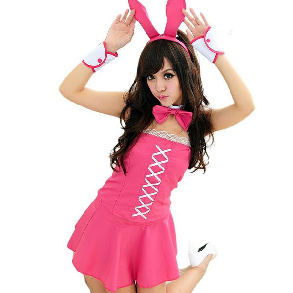 Bunny Rabbit Girl Mini Skirt Set
