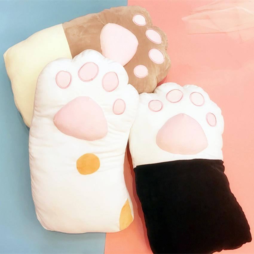 Cartoon Cat Paw Pillow KW1711383