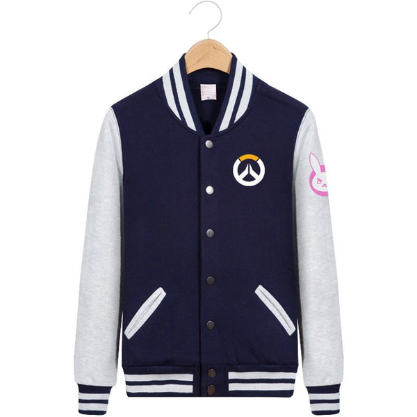 Cartoon D.VA Baseball Jacket - kawaiimoristore