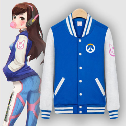 Cartoon D.VA Baseball Jacket
