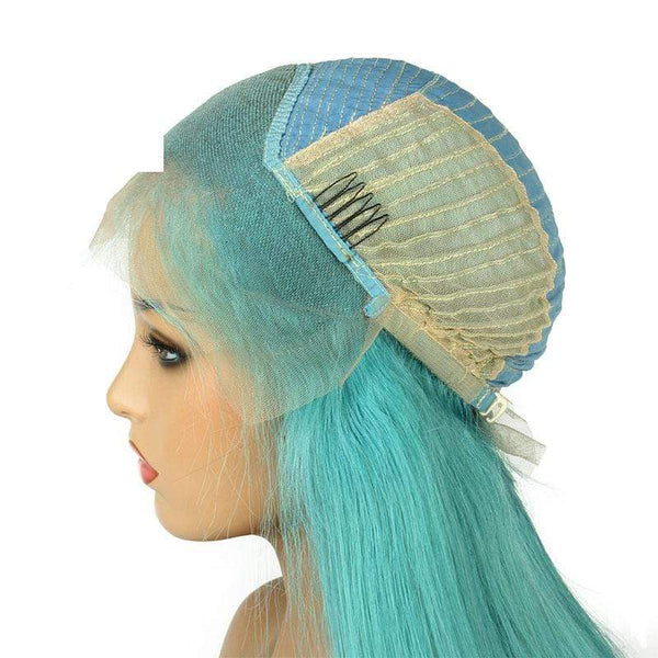 Soft Best Quality Light Green Human Hair Wigs For Women Lace Wigs Brazilian Virgin Hair