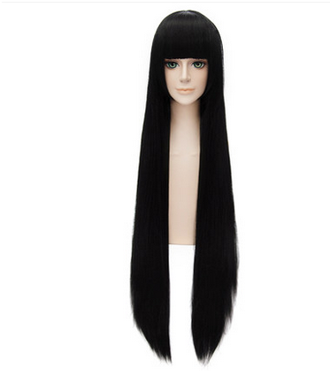 Cosplay Black Long Straight Wig 5 Styles KW152550