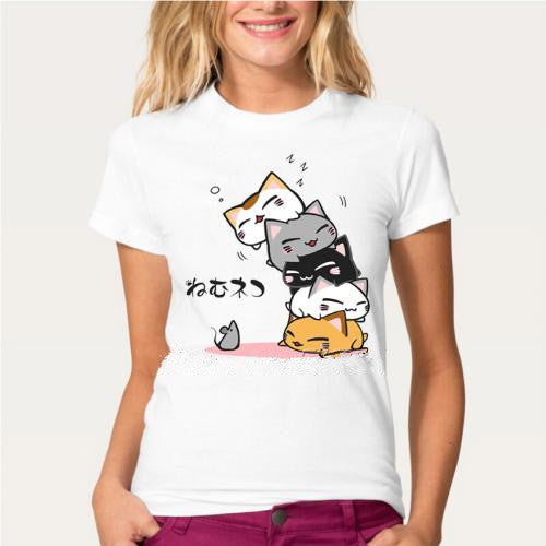 Cute Cat Sleep Design T-Shirt
