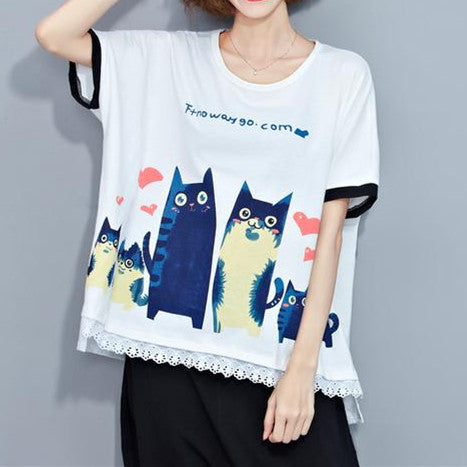 Cute Cat Tops Shirts