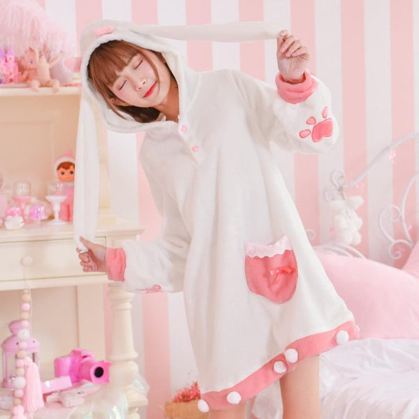 Cute Cotton Candy Deer Sweater Dress