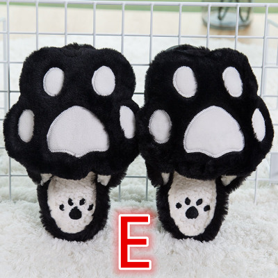 Cute Kawaii Bear Paw Cotton Slippers KW1710767
