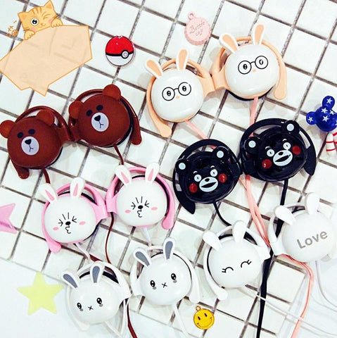 Cute kawaii cartoon modelling phone headset line KW1812253