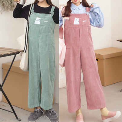 Cute Kawaii Cartoon Straps Trousers KW1811971