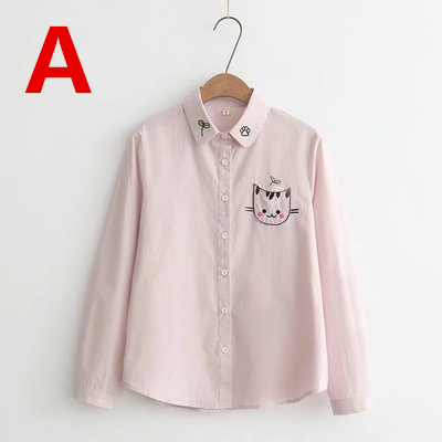 Cute Kawaii Cat Printing Shirt KW1710994