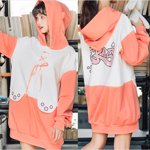 Cute Kawaii Cat's Paw Hoodie Fleece Pullover