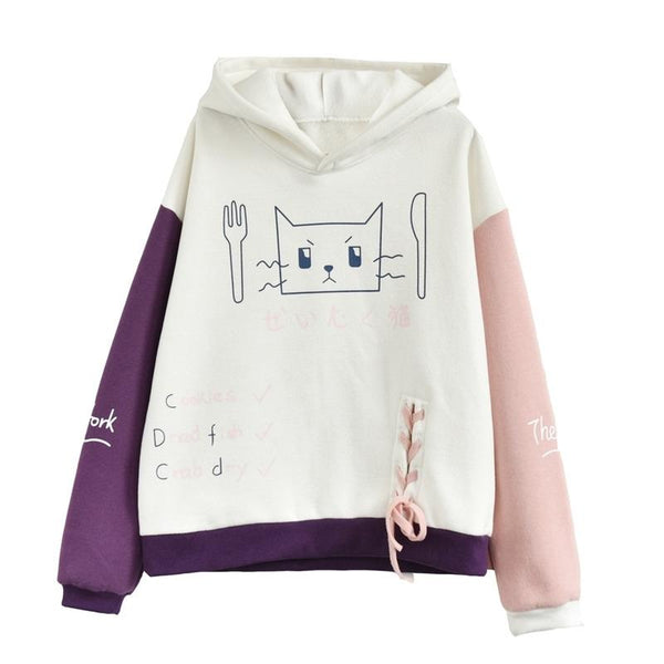 Cute Kawaii Hoodie Fleece Pullover KW1711302