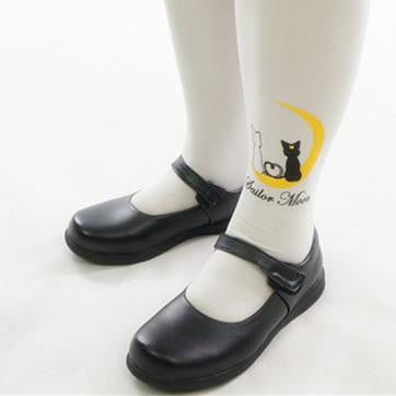 Black PU Leather School Uniform Shoes KW141358 - kawaiimoristore