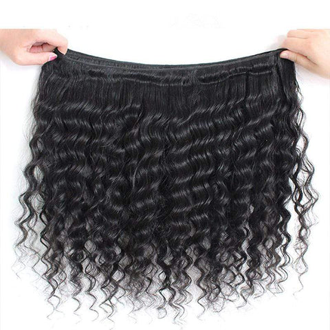 Deep Wave Human Hair Weave Brazilian Human Hair Bundles Hair Extensions