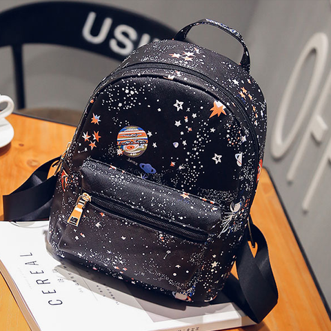 Black Galaxy Printing Backpack