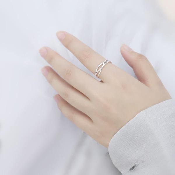 Elegant Simple Silver Ring KW179067 - kawaiimoristore