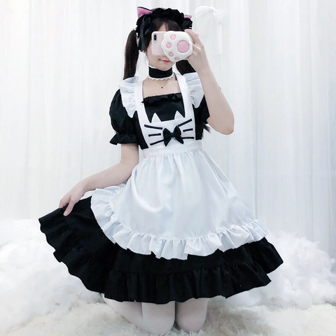 Cute Cat Maid Dress K15512 - kawaiimoristore