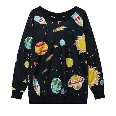 Harajuku Fashion Galaxy Fleece Pullover KW1811941