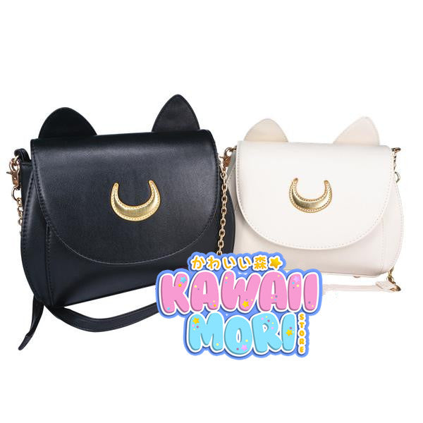 Fabric Moon-Sailor Moon Luna/Artemis Shoulder Bag KW152961 - kawaiimoristore