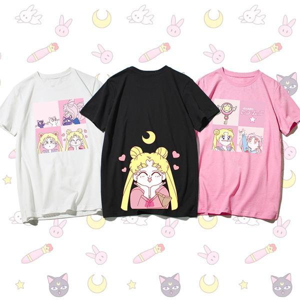 Fashion Sailormoon Sisters Tee Shirt K13773