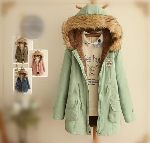 Fashion Thick Hoodie Coat KW1711285