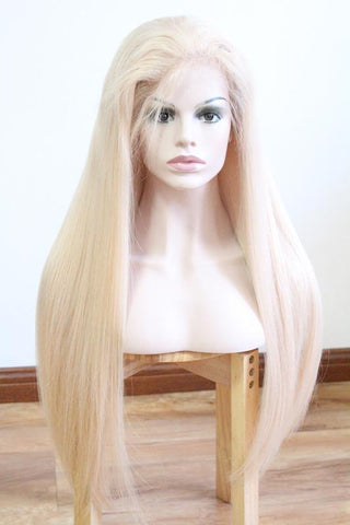 #60 Color Platinum Blonde Human Hair For Black Girls Brazilian Virgin Hair Soft Sleek Amazing Color