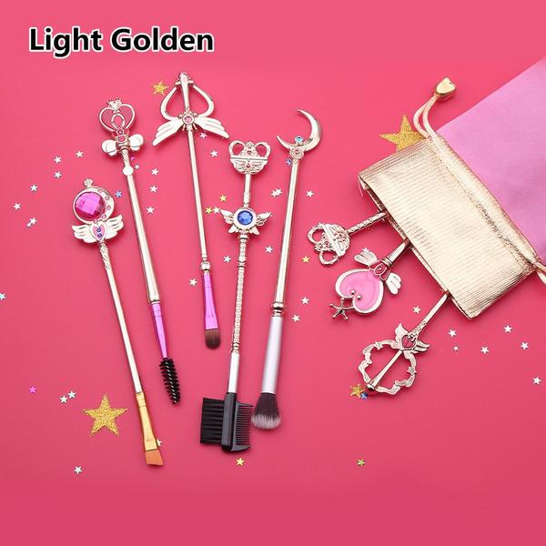Golden/Light Golden Sailor Moon Makeup Brush Set KW1711357