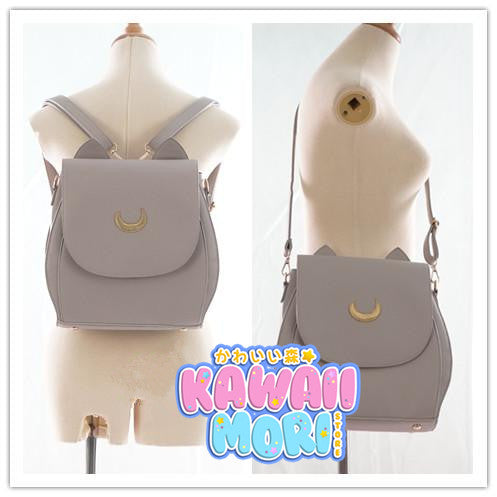 Grey/Black Sailor Moon Luna Mini 3 ways Backpack Bag KW152999